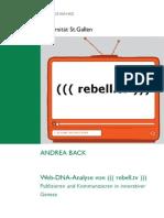 Web-DNA-Analyse von rebell.tv - Publizieren und Kommunizieren in innovativer Genese