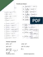 Formulas Para Integrar