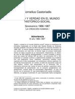 Castoriadis - Sujeto y verdad en el mundo histórico-social (pasaje)