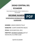 Informe Numero 4 de Tics Tema Slideshare y Scribd