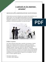 El Talento Aplicado en Las Empresas Peruanas