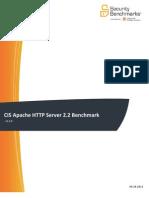CIS Apache HTTP Server 2.2 Benchmark v3.2.0