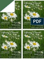 2009 Spring Concert pass-along cards