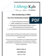Founded in 2010, Food Allergy Kids of Atlanta (FAK) is Georgia's first formal food allergy support group serving families and communities across the state. [0173]- Food Allergy Kids of Atlanta, Inc.pdf