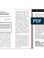 Articulo Profesional, Marketing Ciencia o Arte