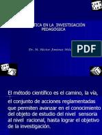 ESTADÍSTICA EN LA INVESTIGACIÓN PEDAGÓGICA-DOCTORADO