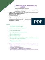 Diagnostico e Intervencion Para El Aprendizaje de Los Alumnos