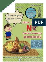 """Cartel de campaña """"Por un pais libre de  transgénicos"""""""