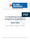 US Should Study Swedish and German Social Security Reform