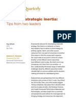 Breaking Strategic Inertia Tips From Two Leaders