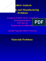 VANDERVOORT - Materials Manufacturing Problems