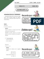III BIM - 1ero. Año - Guía 6 - Factorización II (2)