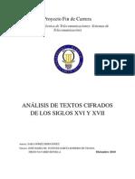 ANÁLISIS DE TEXTOS CIFRADOS