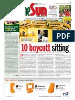 thesun 2009-04-15 page01 10 boycott sitting