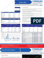 Let's Go For Derivative 20 May 2013  By Mansukh Investment and Trading Solution