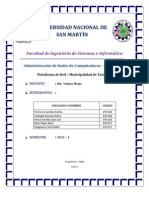 Plataforma de Red-Municipalidad de Tarapoto
