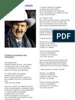 Letras de Algunas Canciones de Don Antonio Aguilar