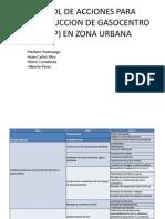 Arbol de Acciones Para Construccion de Gasocentro (
