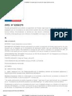 ORD. Nº 6256_279 - Normativa laboral. Dirección del Trabajo. Gobierno de Chile