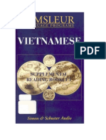 Pimsleur's Vietnamese I - Reading Booklet