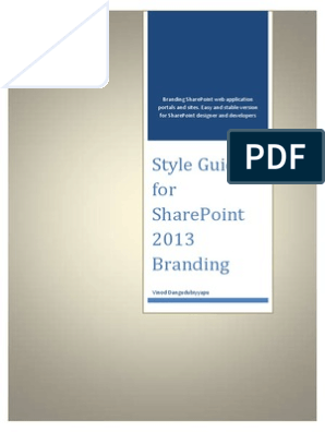 Style Guide For Sharepoint 2013 Branding Share Point Cascading Style Sheets