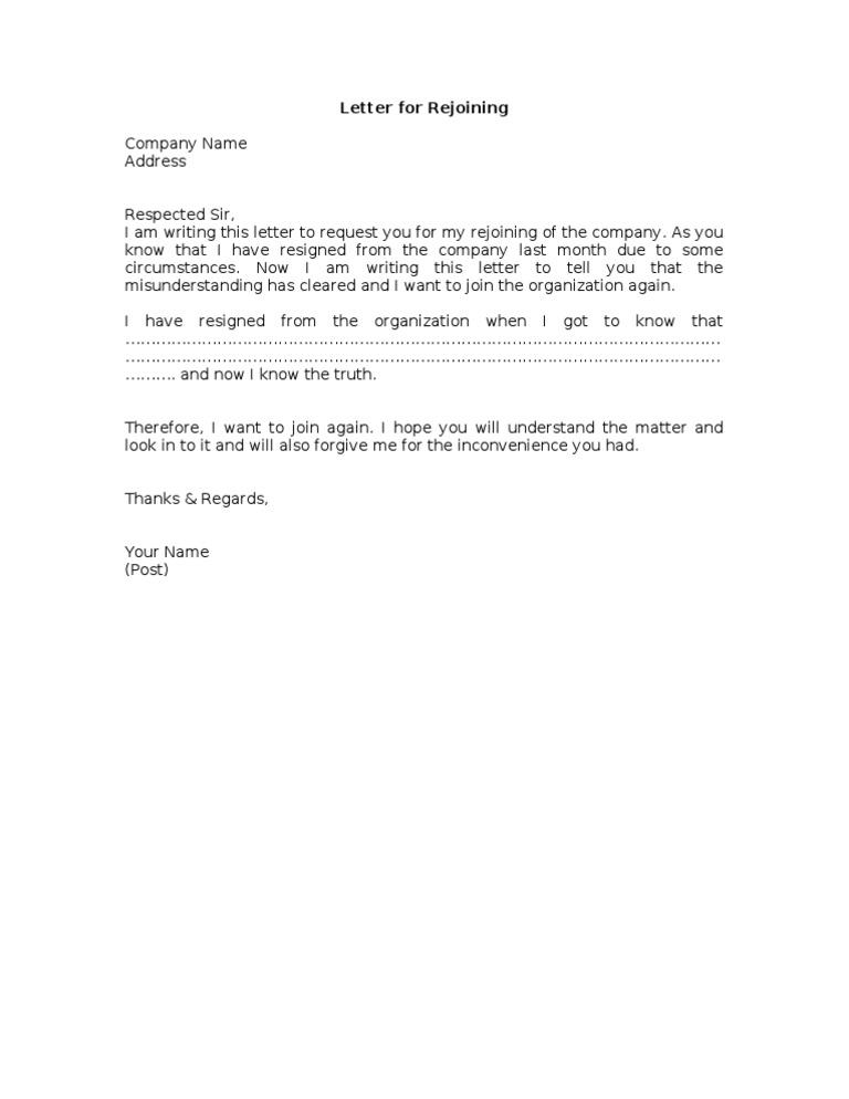 Rejoining letter formatc altavistaventures Choice Image