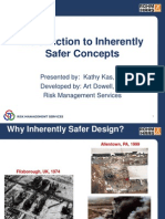 Introduction to Inherently Safer Concepts
