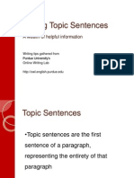the writing process-topic sentences