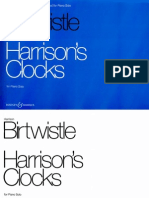 Birtwistle Harrisons Clocks