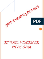 Ethnic Violance in Assam