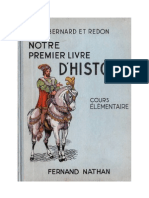 Histoire Notre Premier Livre d'Histoire CE1 Bernard Et Redon-Nathan