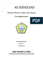 TUGAS SOSIOLOGI (Penyimpangan Sosial)