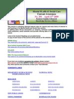 Mental Health Bulletin No 201 April 13th 2009
