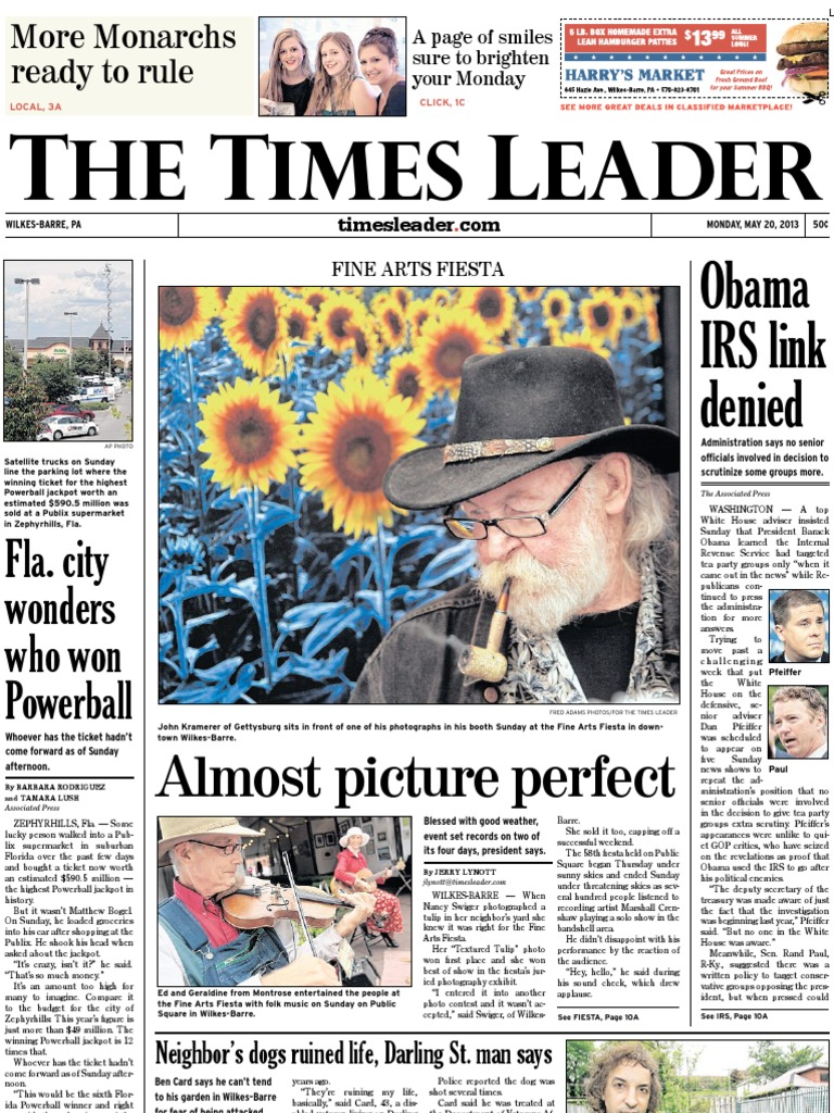 Times Leader 05-20-2013 | Wilkes Barre | Associated Press