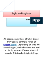 Style and Register