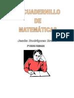 cuaderno matematicas 2º primaria