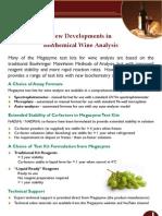 New Developments in Biochemical Wine Analysis