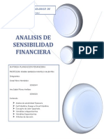 Analisis de Sensibilidad Financiera