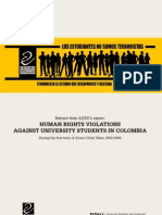 Human rights violations against university students in Colombia 2002-2006