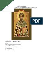 CANONUL MARE Al Sfantului Andrei Criteanul Ierusalimiteanul
