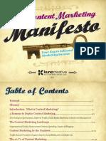 Content Marketing Manifesto