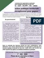 Déclaration Commune Des Organisations Syndicales FPT 21