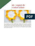 Croseteaza - suport de pahare in culori solare