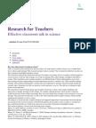 06RE062 Effective Classroom Talk in Science