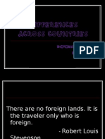 Differences Across Countries