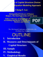 Determinants of Capital Structure Choice