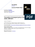 Journal of Public PolicyThe politics of immigrant policy in the 50 US 