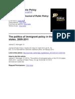 JournalofPublicPolicyThepoliticsofimmigrantpolicyinthe50US states,20052011