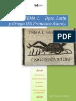 GRIEGO I TEMA 1. INTRODUCCIÓN