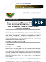 Brand Awareness & Consumer Preference